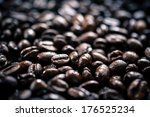 roasted coffee beans  | Shutterstock . vector #176525234