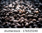 roasted coffee beans  | Shutterstock . vector #176525240