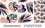 vector seamless tropical... | Shutterstock .eps vector #1765257239