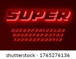 futuristic dynamic alphabet ... | Shutterstock .eps vector #1765276136