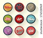 set of hand lettering retro... | Shutterstock .eps vector #176528969