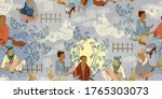 traditional chinese paintings.... | Shutterstock .eps vector #1765303073