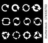 refresh reload rotation arrows... | Shutterstock .eps vector #176530703