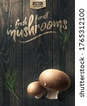 Vector Fresh Forest Mushrooms...