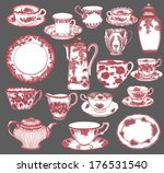 fine china   set of hand drawn... | Shutterstock .eps vector #176531540