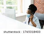 african american call center... | Shutterstock . vector #1765318403