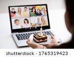 online birthday party video... | Shutterstock . vector #1765319423