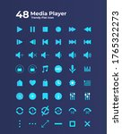 media player icons in flat...