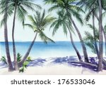 Tropical Resort View With The...