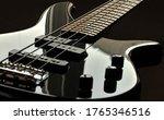 A Close Up Of An Bass Electric...