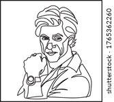 a young men line art  vector | Shutterstock .eps vector #1765362260