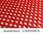 3d Illustration Red And White...