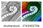 coloring page. colorless and...   Shutterstock .eps vector #1765402706