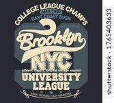brooklyn t shirt graphics. new... | Shutterstock .eps vector #1765403633