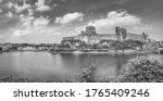 Small photo of Pembrokeshire, Wales, UK: Landscape with the ruins of old medieval Pembroke Castle on the shores of river Pembroke, the original family seat of the Earldom of Pembroke