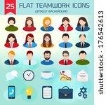 flat business teamwork icons... | Shutterstock .eps vector #176542613