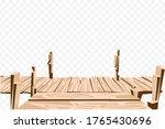 brown wooden bridge isolate...   Shutterstock .eps vector #1765430696