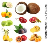 exotic fruits  isolated on white | Shutterstock . vector #176543828