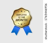 employee of the month badge...   Shutterstock .eps vector #1765446956