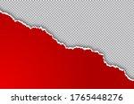 torn ripped paper sheet edge ... | Shutterstock .eps vector #1765448276