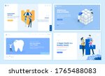 set of web page design... | Shutterstock .eps vector #1765488083
