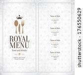 restaurant menu design | Shutterstock .eps vector #176550629
