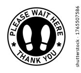 please wait here thank you... | Shutterstock .eps vector #1765507586