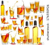 collage of alcohol drinks.... | Shutterstock . vector #176550926