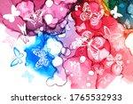white butterflies on a... | Shutterstock .eps vector #1765532933