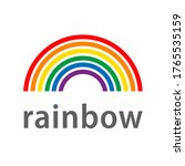 rainbow on a white background....   Shutterstock .eps vector #1765535159