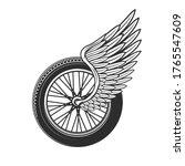 wheel with wing  racing symbol...   Shutterstock .eps vector #1765547609