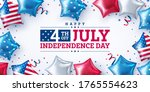4th of july party poster or... | Shutterstock .eps vector #1765554623