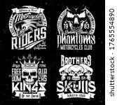 skull t shirt print mockup ... | Shutterstock .eps vector #1765554890
