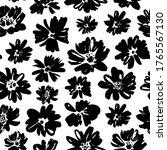 brush flower vector seamless...   Shutterstock .eps vector #1765567130