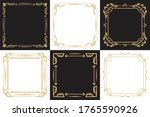 a set of thin decorative frames ... | Shutterstock .eps vector #1765590926