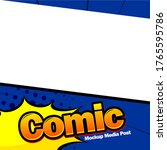 comic book page template design....   Shutterstock .eps vector #1765595786