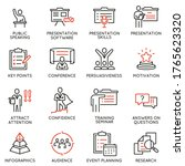 vector set of linear icons...   Shutterstock .eps vector #1765623320