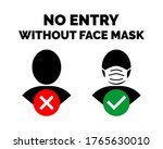 no entry without face mask ...   Shutterstock .eps vector #1765630010