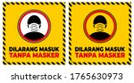 no entry without face mask... | Shutterstock .eps vector #1765630973