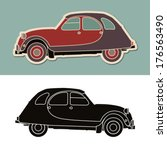 Vintage typical french car - stock vector