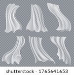 flying white curtains....   Shutterstock .eps vector #1765641653