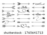curved arrows sketch. hand... | Shutterstock .eps vector #1765641713