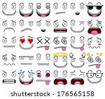 cartoon set of thirty different ... | Shutterstock .eps vector #176565158