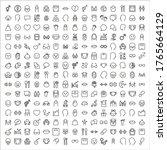 icon set of human. editable... | Shutterstock .eps vector #1765664129