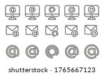 Modern Outline Style Mail Icons ...
