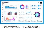 white infographic dashboard...