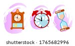 isolated vingage clock... | Shutterstock .eps vector #1765682996