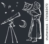 Astronomy Sketch Vector...