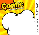 comic book page template design....   Shutterstock .eps vector #1765698440
