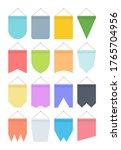 pennant colour banner set.... | Shutterstock .eps vector #1765704956